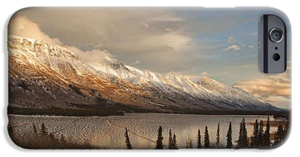 Industry iPhone Cases - Annie Lake In Early Winter With Ice iPhone Case by Robert Postma