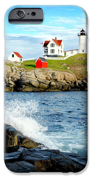 Nubble Lighthouse iPhone Cases - Another Nubble iPhone Case by Greg Fortier