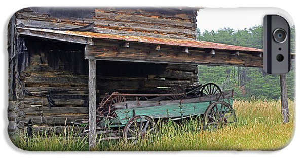 Old Barns iPhone Cases - Another Time III iPhone Case by Suzanne Gaff