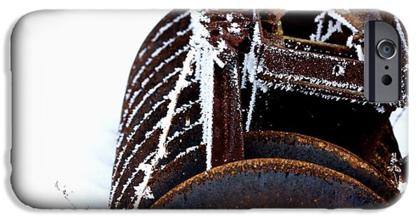 Disc iPhone Cases - Another Winter iPhone Case by Jarrod Erbe