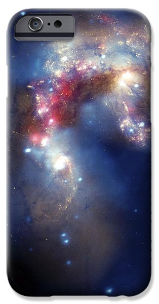 Antennae Galaxies, Composite Image iPhone Case by Nasa