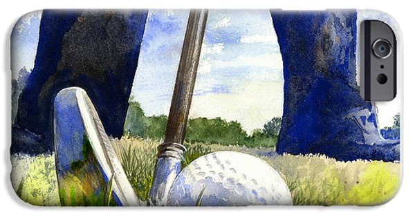 Sports Paintings iPhone Cases - Anticipation iPhone Case by Andrew King