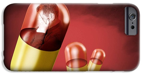 Antidepressant iPhone Cases - Antidepressant Medication iPhone Case by Victor Habbick Visions