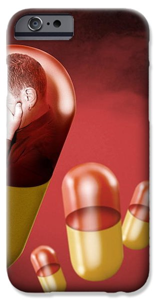 Antidepressant Medication iPhone Case by Victor Habbick Visions
