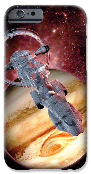 Antimatter Drive Spaceship iPhone Case by Victor Habbick Visions