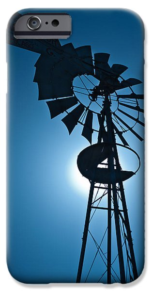 Farm iPhone Cases - Antique Aermotor Windmill iPhone Case by Steve Gadomski
