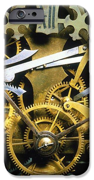Antique Clock iPhone Case by David Parker