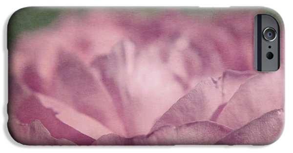 Floral Photographs iPhone Cases - Antique Pink iPhone Case by Aimelle