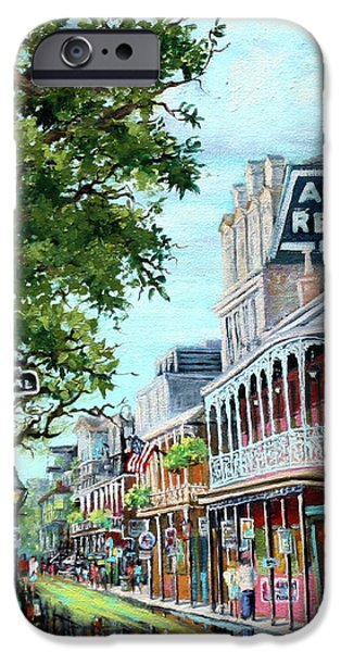 French Quarter Paintings iPhone Cases - Antoines iPhone Case by Dianne Parks