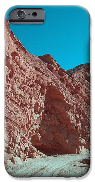 Field. Cloud iPhone Cases - Anza Borrego Trail iPhone Case by Naxart Studio