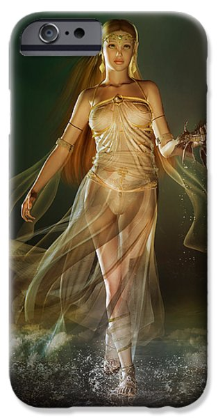 Fantasy Digital Art iPhone Cases - Aoife iPhone Case by Karen H