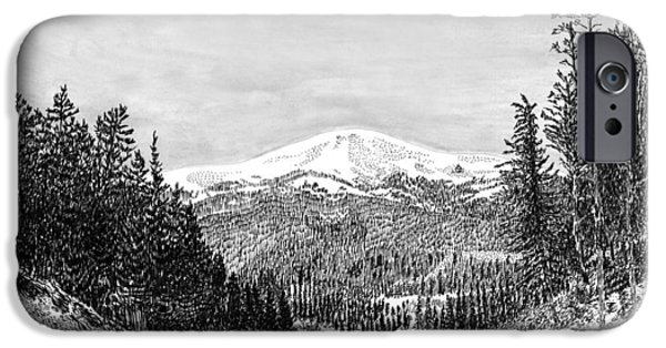 Pen And Ink Framed Prints iPhone Cases - Apache Summit Siera Blanco iPhone Case by Jack Pumphrey