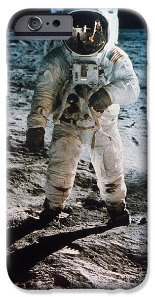 Aod iPhone Cases - Apollo 11: Buzz Aldrin iPhone Case by Granger