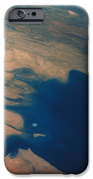 Iraq iPhone Cases - Apollo 7 Photograph Of Kuwait, Iraq & Iran iPhone Case by Nasa