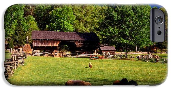 Tn Barn iPhone Cases - Appalachian Barn Yard iPhone Case by Paul W Faust -  Impressions of Light