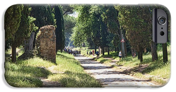 Roman iPhone Cases - Appian Way in Rome iPhone Case by David Smith