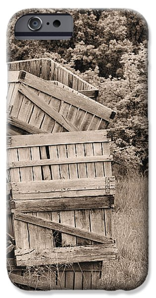 Apple Crates Sepia iPhone Case by JC Findley