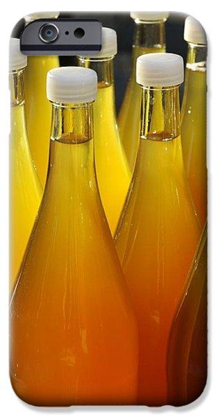 Apple juice in bottles iPhone Case by Matthias Hauser