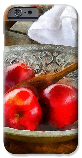 Apples in a Silver Bowl iPhone Case by Susan Savad