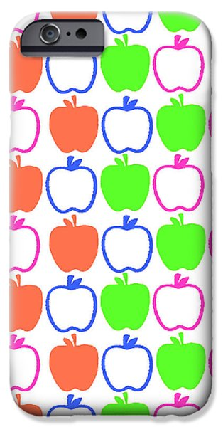 Louisa iPhone Cases - Apples iPhone Case by Louisa Knight