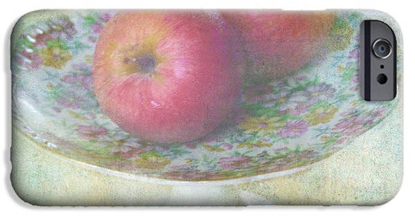 Flower Still Life Mixed Media iPhone Cases - Apples still life print iPhone Case by Svetlana Novikova