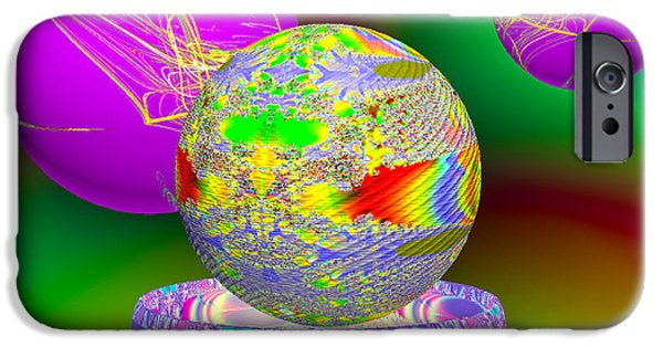 Fractal Orbs iPhone Cases - Applied Fractals iPhone Case by Anthony Caruso