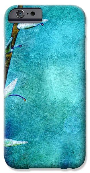 Aqua and Indigo iPhone Case by Aimelle