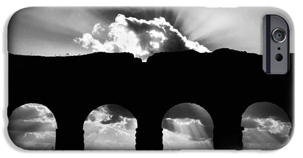 Ruin iPhone Cases - Aqua Claudia aqueduct iPhone Case by Fabrizio Troiani