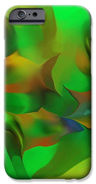 Aqua Residents iPhone Case by David Lane