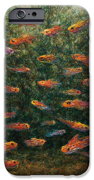 Goldfish iPhone Cases - Aquarium iPhone Case by James W Johnson