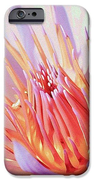 Aquatic Bloom iPhone Case by Julie Palencia
