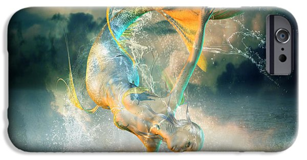 Beach Digital Art iPhone Cases - Aquatica iPhone Case by Karen H