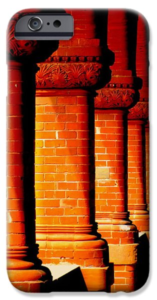 Archaic Columns iPhone Case by KAREN WILES