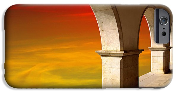 Facade iPhone Cases - Arches at Sunset iPhone Case by Carlos Caetano