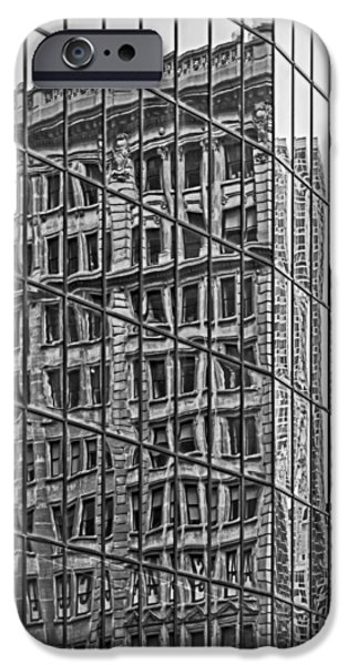 Landscape iPhone Cases - Architecture Reflections iPhone Case by Susan Candelario