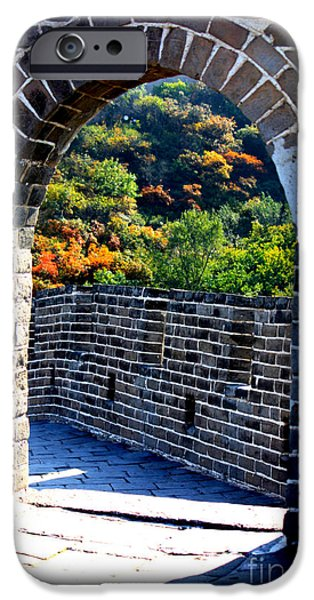 Historic Site iPhone Cases - Archway to Great Wall iPhone Case by Carol Groenen