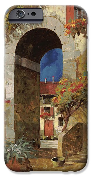 Stairs iPhone Cases - Arco Al Buio iPhone Case by Guido Borelli