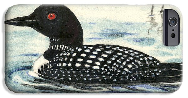 Birds Ceramics iPhone Cases - Arctic loon iPhone Case by Dy Witt