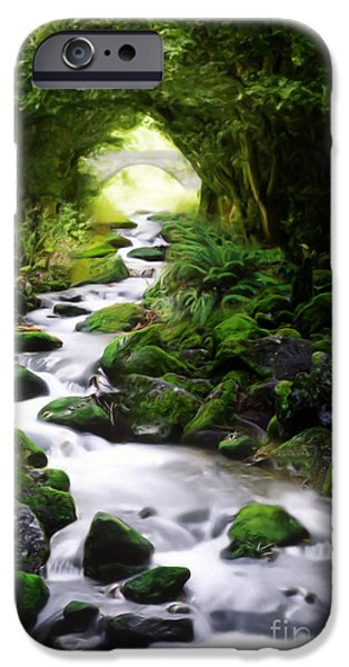 Painter Digital Art iPhone Cases - Arden Bridge iPhone Case by John Edwards