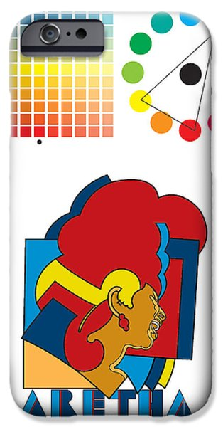 Franklin iPhone Cases - Aretha Franklin No.01 iPhone Case by Caio Caldas