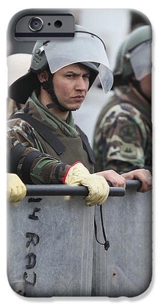 Argentine Marines Dressed In Riot Gear iPhone Case by Stocktrek Images