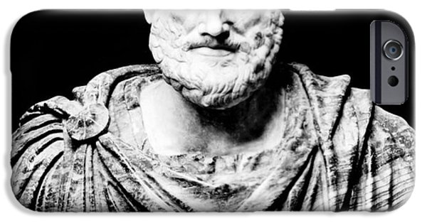 Metaphysics iPhone Cases - Aristotle, Ancient Greek Philosopher iPhone Case by Omikron