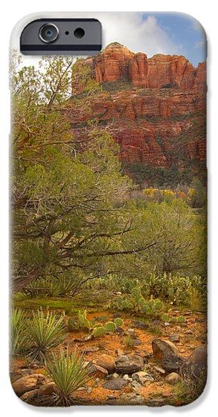 Sedona iPhone Cases - Arizona Outback 3 iPhone Case by Mike McGlothlen