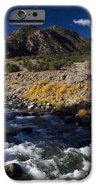 Arkansas River Autumn iPhone Case by Ellen Heaverlo
