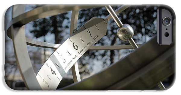 Stainless Steel iPhone Cases - Armillary Sundial iPhone Case by Martin Bond