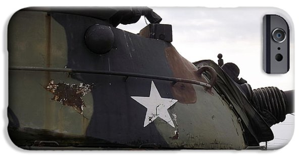 Vetran iPhone Cases - Armored Tank iPhone Case by Rose Santuci-Sofranko