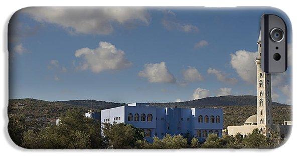 Rural Schools iPhone Cases - Arraba Mosque and School iPhone Case by Noam Armonn