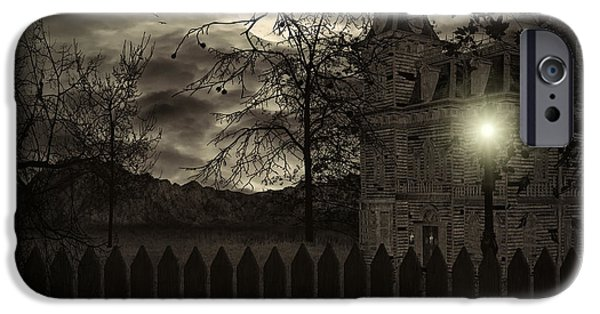 Haunted House Digital Art iPhone Cases - Arrival iPhone Case by Lourry Legarde
