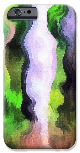 Art abstract work iPhone Case by Odon Czintos