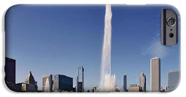 Interior Scene iPhone Cases - Art Deco Buckingham Fountain Chicago iPhone Case by Christine Till